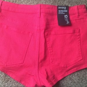 H&M Shorts - High Waisted Red H&M Shorts